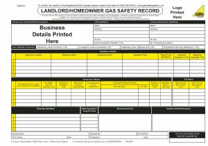 Personalised Landlord/Homeowner Gas Safety Record